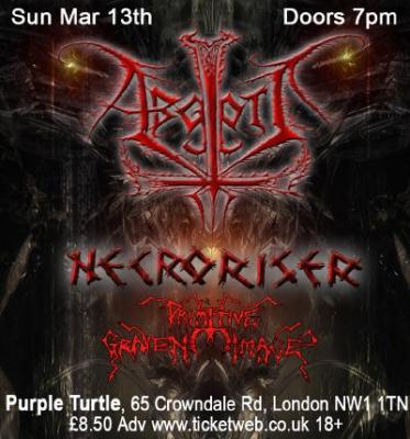 Abgott Primitive Graven Image and Necroriser - Purple Turtle, London, 13th march 2010